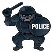 Cartoon riot police