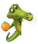 Karta a Krokodýlí hospodářství oranžová