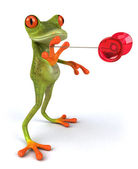Fun frog and yoyo