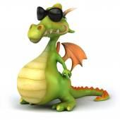 Zábava drak s sluneční brýle