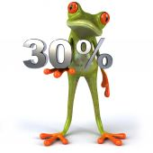 Frog with 30 percents