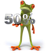 Frog with 50 percents