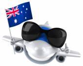 Zábavné letadlo s vlajka Austrálie