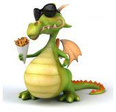Zábavné kreslené drak