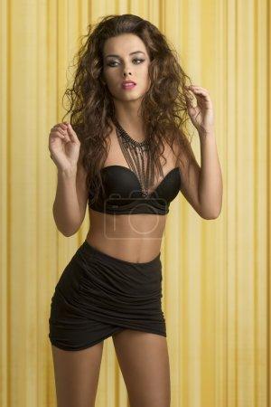 curly sexy fashion woman