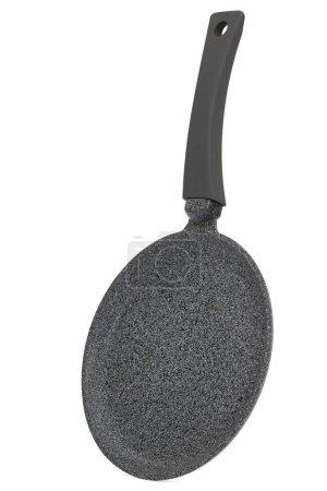 Photo pour Poêle grise avec antiadhésif, isolée sur fond blanc - image libre de droit