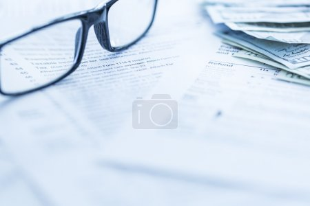 Photo for 1040 us tax forms, selective focus - Royalty Free Image