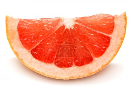 Ripe grapefruit slice