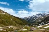 Passo del San Gottardo summer landscape (Switzerland).