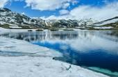 Summer Alps mountain lake  (Switzerland)