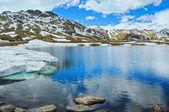 Alps mountain lake view