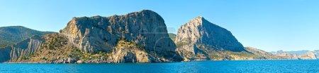 Photo for Summer rocky coastline view (Crimea, Ukraine). Panorama. - Royalty Free Image