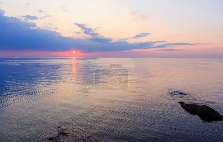 Sea sunrise view.