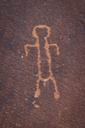 Photo for Ancient petroglyphs found in the base of the Glen Canyon in Arizona - Royalty Free Image