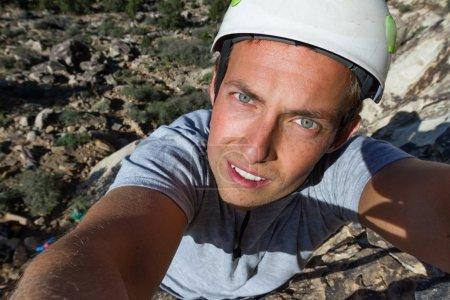 rock climbing selfie