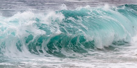 Photo for Close up shot of a crashing wave as a background - Royalty Free Image