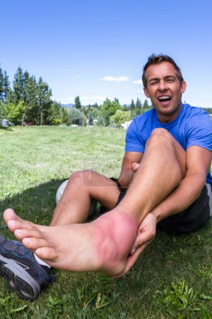 Rolled ankle, sports injury