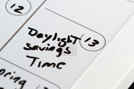"""Photo pour 13 mars sur un calendrier marqué par l'heure d """"été avec marqueur aback - image libre de droit"""