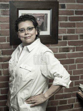 Upbeat Breast Cancer Survivor In Work Environment