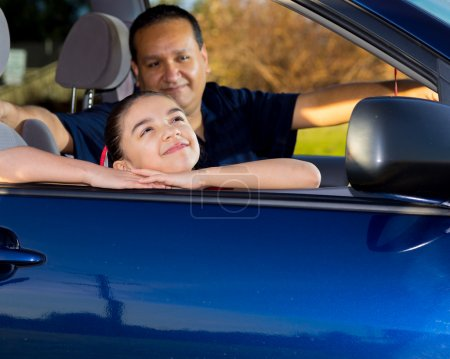 Dad Gets Ready To Drive Daughter To Practice