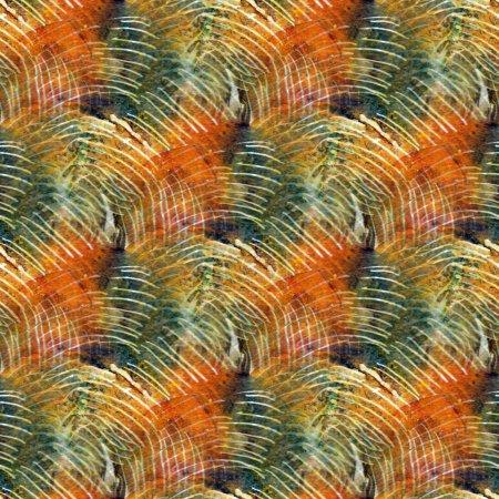 Photo pour Abstrait modèle sans couture avec des taches aquarelles. - image libre de droit