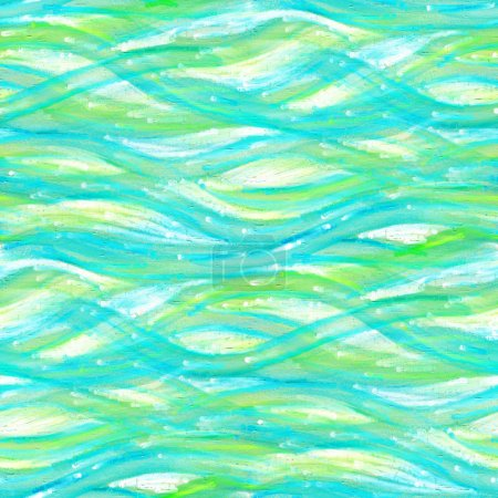 seamless pattern with green waves