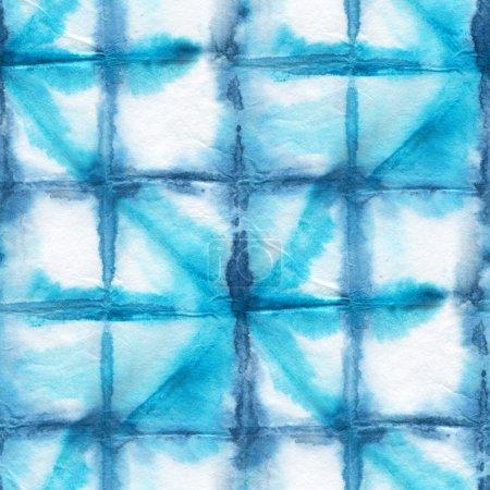 Photo pour Mire de Tie-Dye Seamless soie blanche. Main de batik peinture - image libre de droit