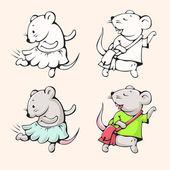 Lustige Cartoon Mäuse