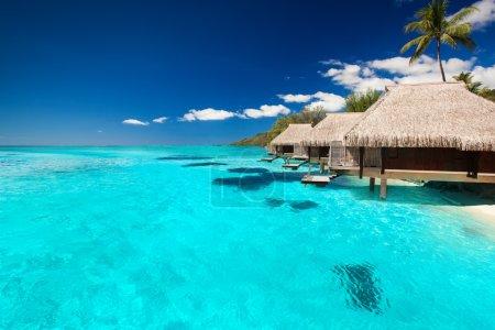 Villas on the tropical beach