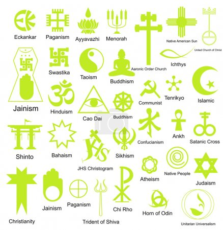 Collection of Religious Symbols Shapes