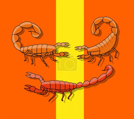 Poisonous Scorpions Vector
