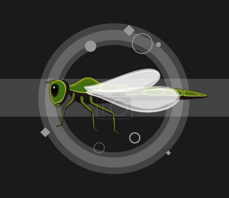 Dragonfly Insects Vector Illustration...