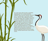 Crane Bird Greeting Template