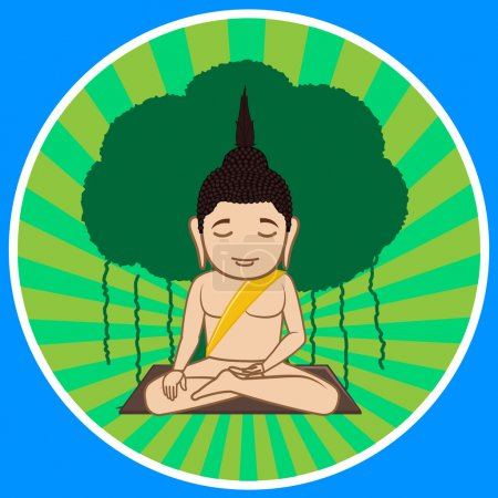 Gautama Buddha Concentration Vector Illustration