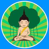 Gautama Buddha Concentration Vector Illustration
