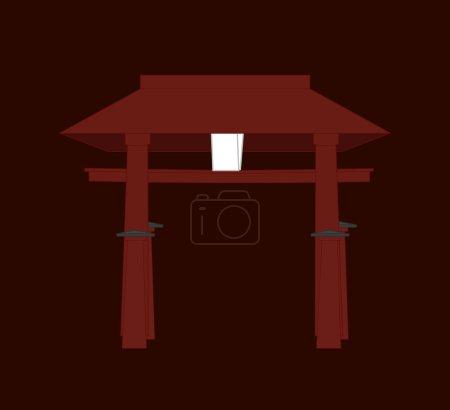 Religious Torii Gate Vector