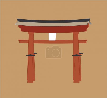 Shinto Gate Vector