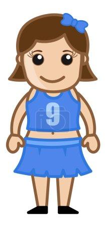 Cheerleader Girl Vector Cartoon