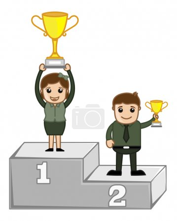 Cartoon Vector Character - Winners