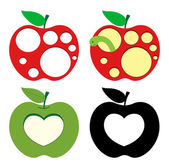 Heart and Circles Pattern Apples
