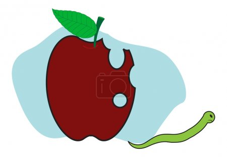 Angry Worm Going from Apple