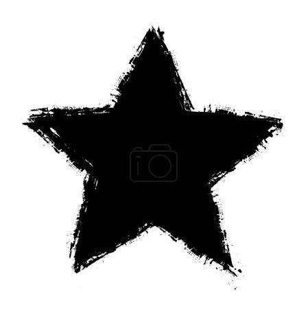 Grunge Star Shape Vector