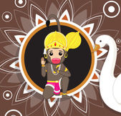 Jai Hanuman - Hindu God of Strength Vector Illustration