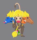 Five Faces Shri Hanuman Blessing - Indian God