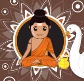 Gautam Buddha Cartoon Character