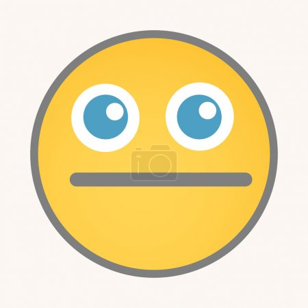 Keep Quiet - Cartoon Smiley Vector Face