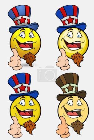 Laughing Uncle Sam Emoji Smiley Emoticon