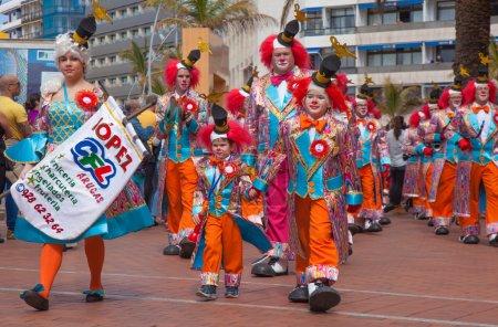 Las Palmas de Gran Canaria Beach carnival 2015 parade on the Las