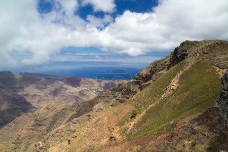 La Gomera, Islas Canarias, vista hacia la costa sur