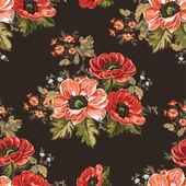 seamless texture flowers field